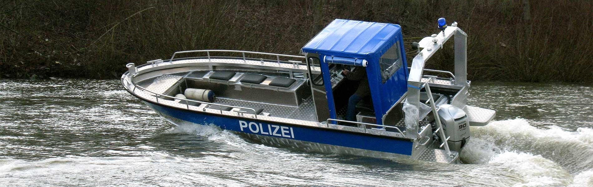 polizeiboot aluminium